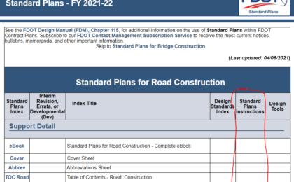FDOT TTC Standard Plans Instruction
